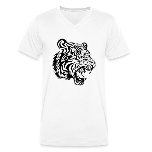 Tiger - Men's Organic V-Neck T-Shirt by Stanley & Stella