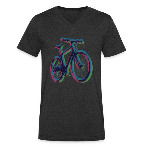 Bike Fahrrad bicycle Outdoor Fun Mountainbike - Men's Organic V-Neck T-Shirt by Stanley & Stella