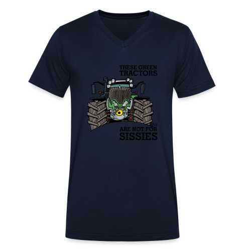 these green tractors are not for sissies - Mannen bio T-shirt met V-hals van Stanley & Stella