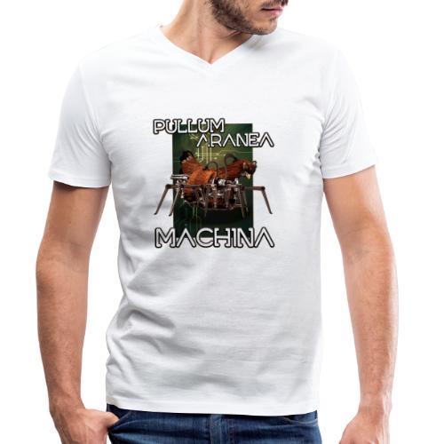 Pullum Aranea Machina - Mannen bio T-shirt met V-hals van Stanley & Stella