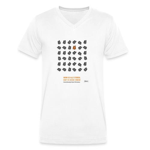 Next Generation: Schmetterlinge retten - Männer Bio-T-Shirt mit V-Ausschnitt von Stanley & Stella