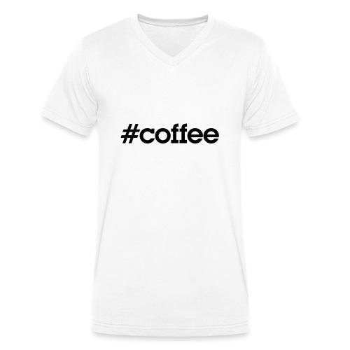 hashtag coffee noir - T-shirt bio col V Stanley & Stella Homme