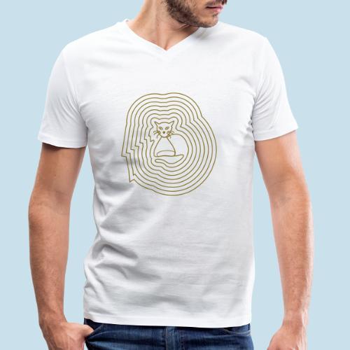 Katzenliebe - Männer Bio-T-Shirt mit V-Ausschnitt von Stanley & Stella