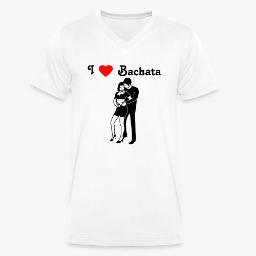 I love Bachata - Männer Bio-T-Shirt mit V-Ausschnitt von Stanley & Stella