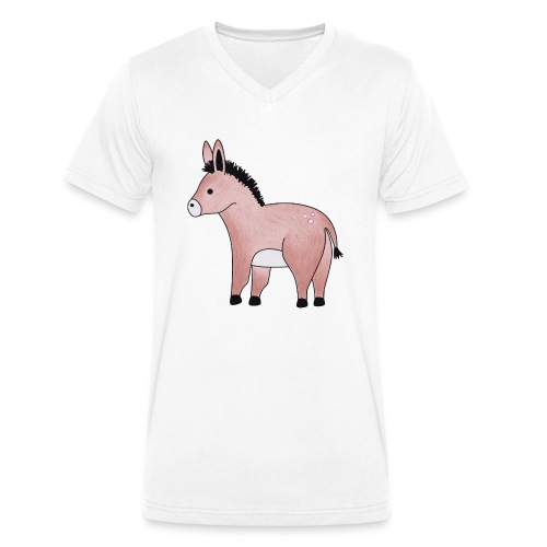 Eselchen - Männer Bio-T-Shirt mit V-Ausschnitt von Stanley & Stella