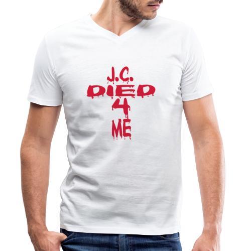J.C.Died 4 Me - Cross - Männer Bio-T-Shirt mit V-Ausschnitt von Stanley & Stella