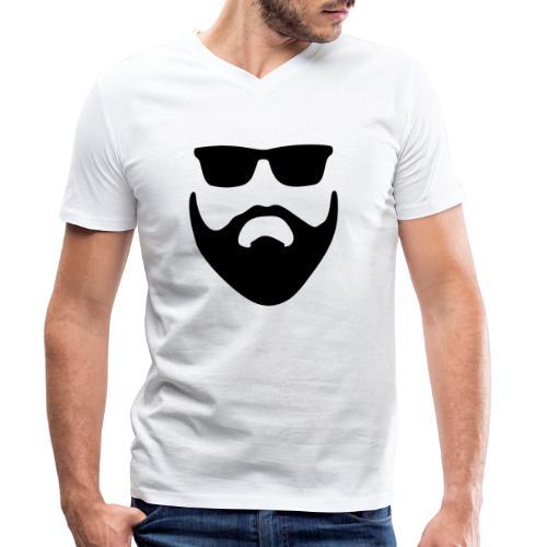 Bartman Silhouette - Männer Bio-T-Shirt mit V-Ausschnitt von Stanley & Stella