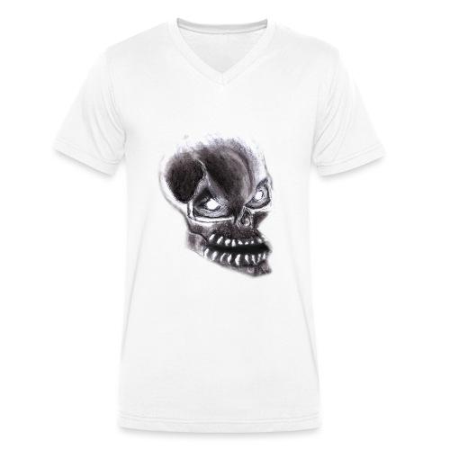 Angry skull - Männer Bio-T-Shirt mit V-Ausschnitt von Stanley & Stella