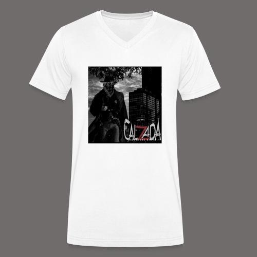 Calzada logo - Økologisk T-skjorte med V-hals for menn fra Stanley & Stella