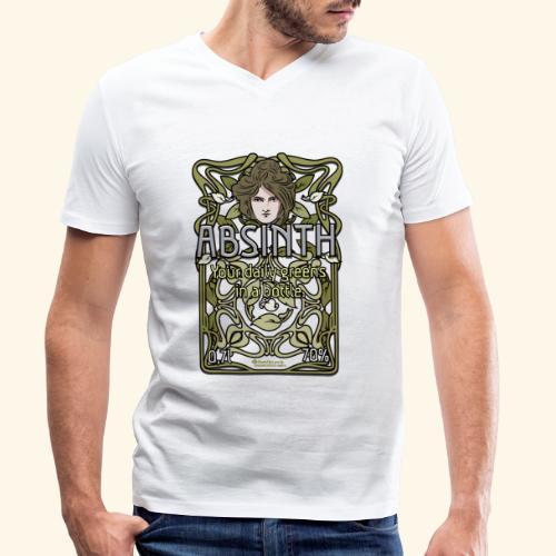 Absinth Your Daily Greens in a Bottle Art Nouveau - Männer Bio-T-Shirt mit V-Ausschnitt von Stanley & Stella