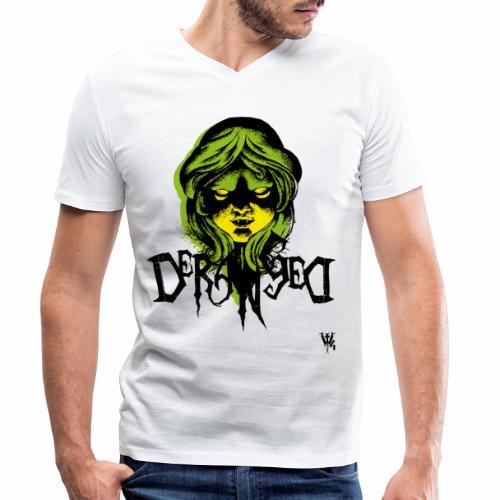 DerangeD - Tattoo Metal Horror Vampire - Økologisk Stanley & Stella T-shirt med V-udskæring til herrer