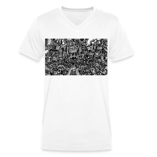weird drawings - Mannen bio T-shirt met V-hals van Stanley & Stella