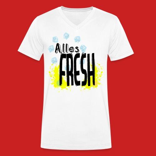 Alles Fresh / Frisch Sommer Eis - Männer Bio-T-Shirt mit V-Ausschnitt von Stanley & Stella
