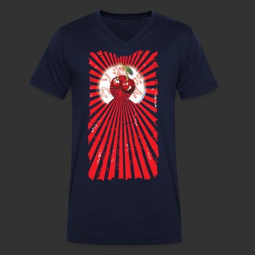frkn cherry - Mannen bio T-shirt met V-hals van Stanley & Stella