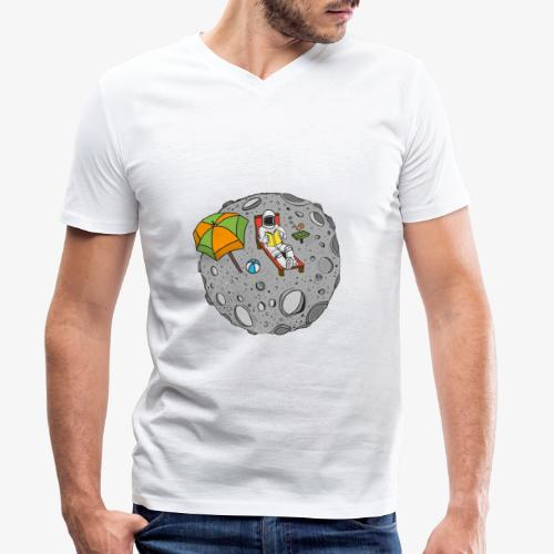 To the Moon - T-shirt bio col V Stanley & Stella Homme