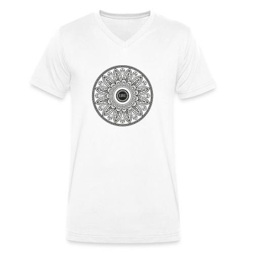 Mandala mit Schriftzug Love - Männer Bio-T-Shirt mit V-Ausschnitt von Stanley & Stella