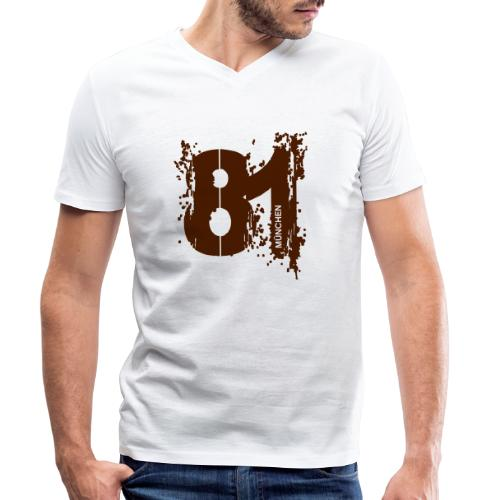 City_81_München - Männer Bio-T-Shirt mit V-Ausschnitt von Stanley & Stella