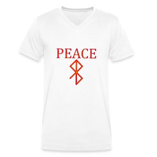 PeaceFire - Männer Bio-T-Shirt mit V-Ausschnitt von Stanley & Stella
