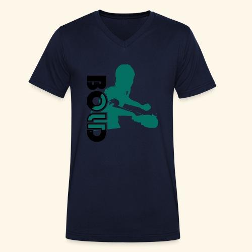 BOLD, table tennis championship ideal gift - Männer Bio-T-Shirt mit V-Ausschnitt von Stanley & Stella