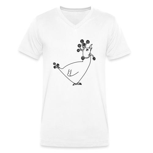Cosmic Chicken - Men's Organic V-Neck T-Shirt by Stanley & Stella