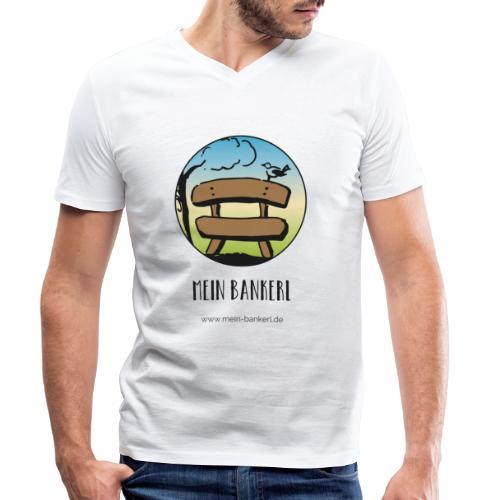 Mein Bankerl, rund - Männer Bio-T-Shirt mit V-Ausschnitt von Stanley & Stella