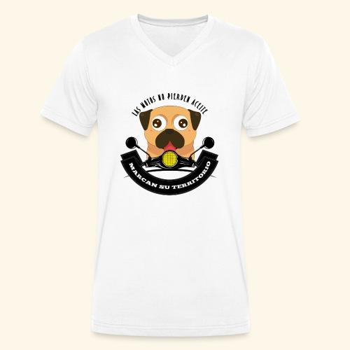 Territorio Perruno - Camiseta ecológica hombre con cuello de pico de Stanley & Stella