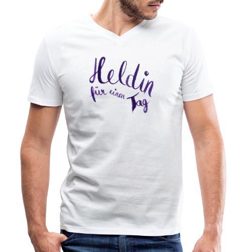 Heldin für einen Tag - Männer Bio-T-Shirt mit V-Ausschnitt von Stanley & Stella
