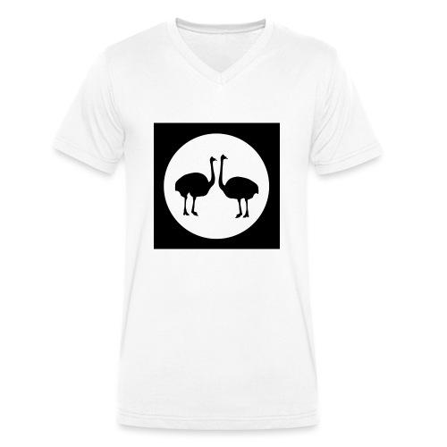 Strauß - Männer Bio-T-Shirt mit V-Ausschnitt von Stanley & Stella