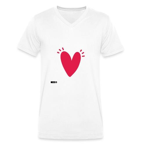 st valentin - T-shirt bio col V Stanley & Stella Homme
