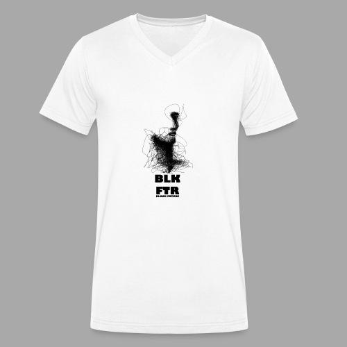 BLK FTR N°5 - T-shirt ecologica da uomo con scollo a V di Stanley & Stella