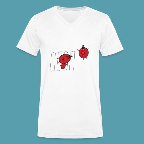 tomaatit - Stanley & Stellan miesten luomupikeepaita