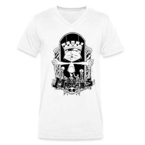 gato2 png - Men's Organic V-Neck T-Shirt by Stanley & Stella