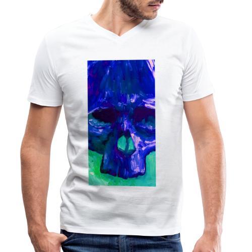 Blue Skull - Mannen bio T-shirt met V-hals van Stanley & Stella