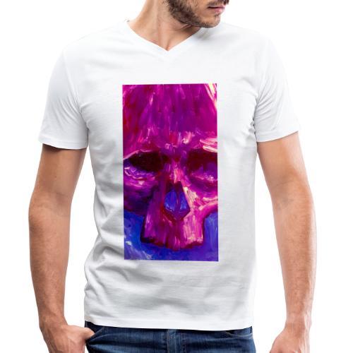Purple Skull - Mannen bio T-shirt met V-hals van Stanley & Stella