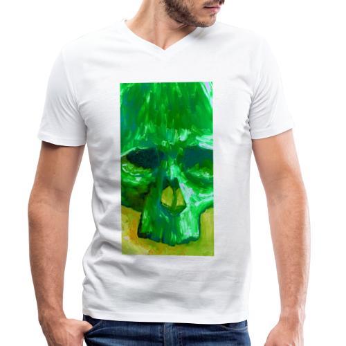 Green Skull - Mannen bio T-shirt met V-hals van Stanley & Stella