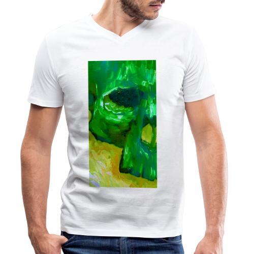 Green Skull #2 - Mannen bio T-shirt met V-hals van Stanley & Stella