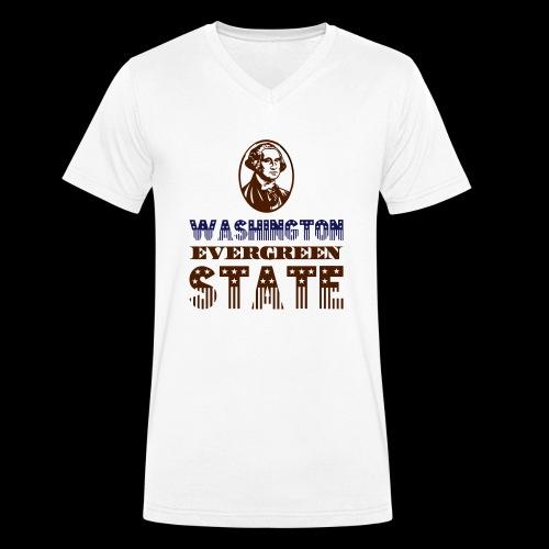 WASHINGTON EVERGREEN STATE - Men's Organic V-Neck T-Shirt by Stanley & Stella