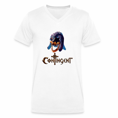 Contignent Logo - Men's Organic V-Neck T-Shirt by Stanley & Stella