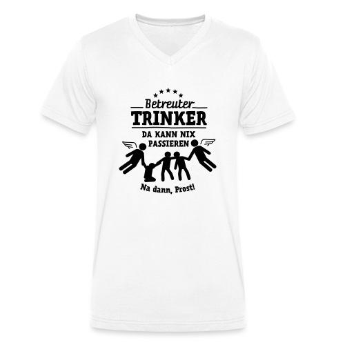 betreuter-trinker - Männer Bio-T-Shirt mit V-Ausschnitt von Stanley & Stella
