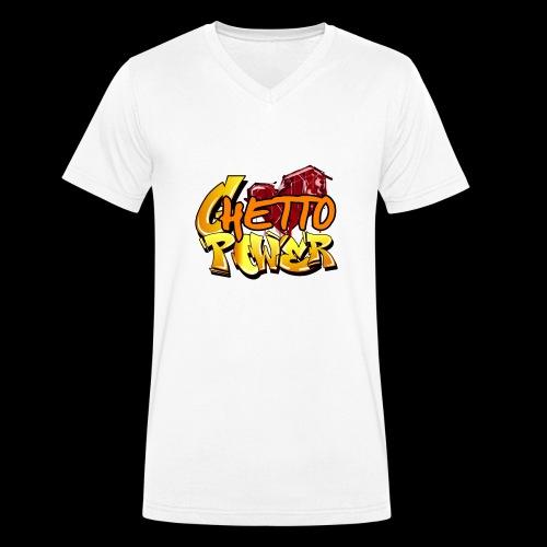 ghetto power - T-shirt ecologica da uomo con scollo a V di Stanley & Stella