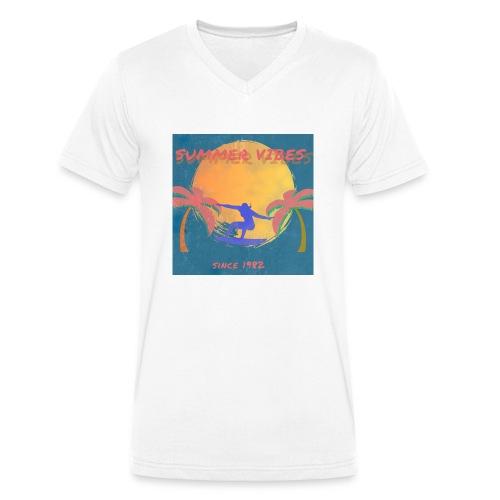 Summer vibes - Camiseta ecológica hombre con cuello de pico de Stanley & Stella