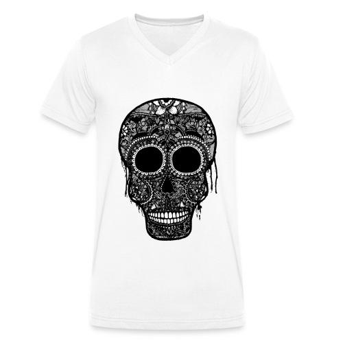 SugarSkull Gris png - T-shirt bio col V Stanley & Stella Homme
