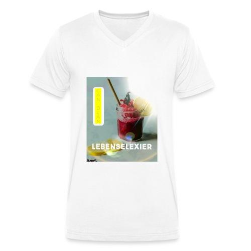 Lebenselixier - Männer Bio-T-Shirt mit V-Ausschnitt von Stanley & Stella