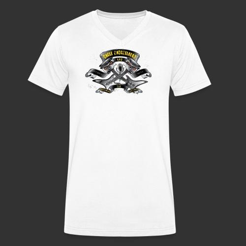 screaming pistons - Mannen bio T-shirt met V-hals van Stanley & Stella