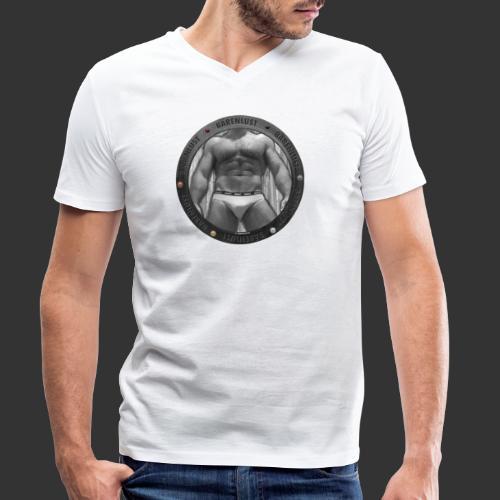 BAERENLUSTiges Bullauge mit Muscle Body - Männer Bio-T-Shirt mit V-Ausschnitt von Stanley & Stella