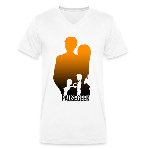 PauseGeek png - T-shirt bio col V Stanley & Stella Homme
