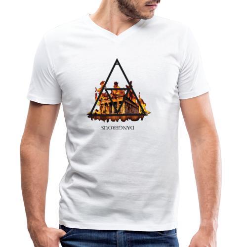 DANGEROUS FIRE - T-shirt ecologica da uomo con scollo a V di Stanley & Stella