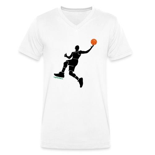 slamdunk_ball - T-shirt ecologica da uomo con scollo a V di Stanley & Stella