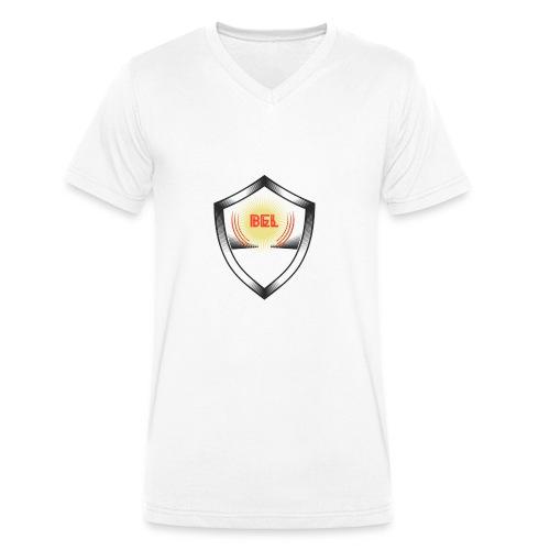 Belgien T-Shirt Design(1) - Männer Bio-T-Shirt mit V-Ausschnitt von Stanley & Stella
