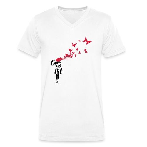 Butterfly Suicide - Männer Bio-T-Shirt mit V-Ausschnitt von Stanley & Stella